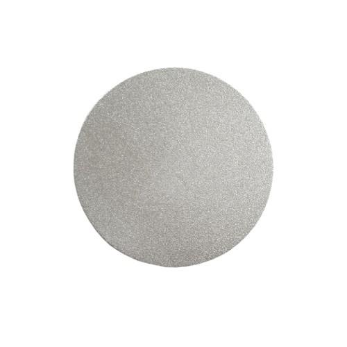 Metallplatte Aluminium Scheibe Kreis silber gebürstet 6cm 1 Stück