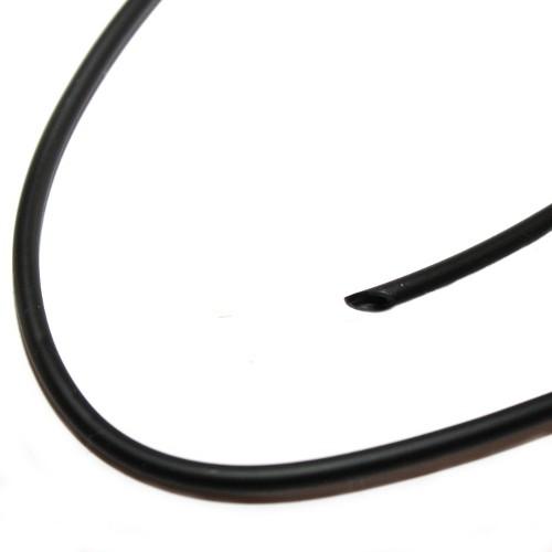 Kautschukband 3mm mit Loch 0,8mm schwarz 200cm lang
