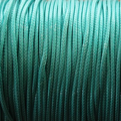 Wachsband gewachstes Baumwollband 2mm türkis 5 m lang