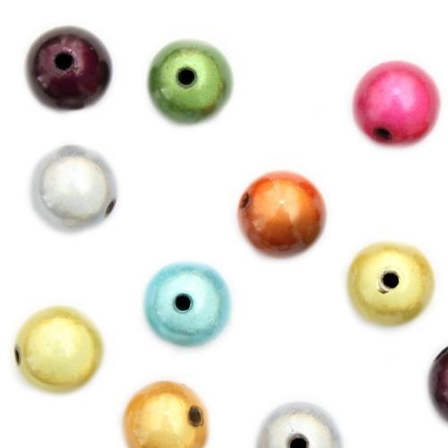 Acrylperle Kugel Miracle Wunder Perle mix glänzend 12mm 15Stk.