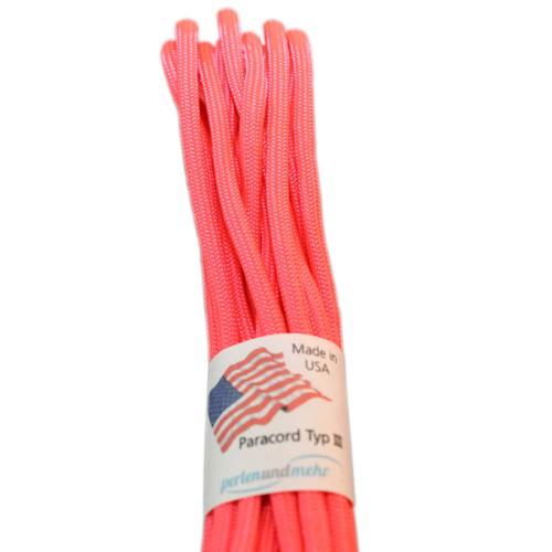 Paracord - perlenundmehr - original amerikanisch TypIII Farbe salmon