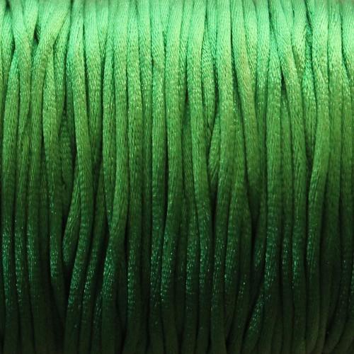 Seidenband Nylonfaden 2mm dunkel grün 5 m lang