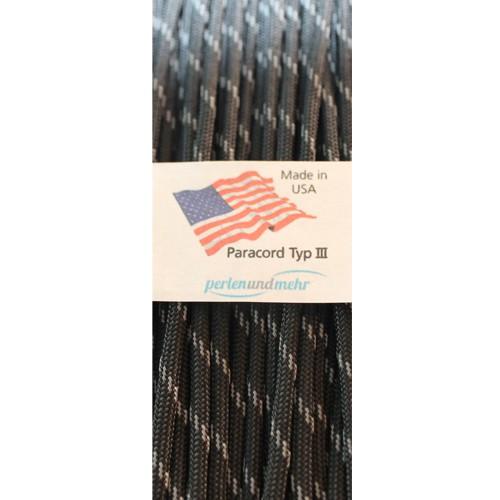 Paracord - perlenundmehr - reflektierend Farbe Schwarz 1 m