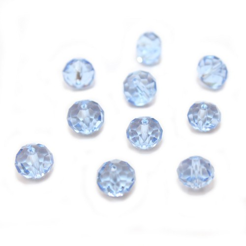 Glasperle Kristallglas Rhombe Bicone facettiert jeans blau glänzend 10x8mm 10Stk.