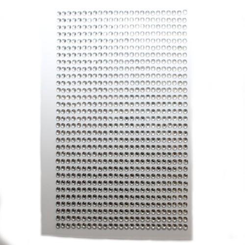 Strass Steine 3mm rund auf Folie zum Kleben weiß klar ca. 775 Stk.140x85mm