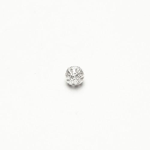 Metallperle Spacer Kugel filigran silber mit Diamanteffekt (tussi-silber) 6mm 30Stk.