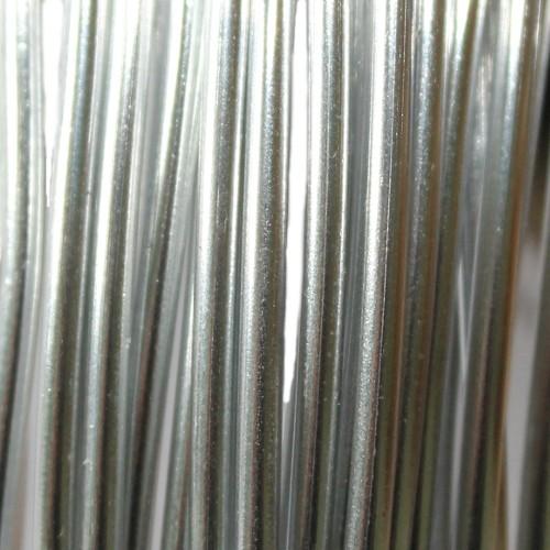 Aluminium Draht Alu Schmuckdraht silber hell 2 mm ca. 10m lang