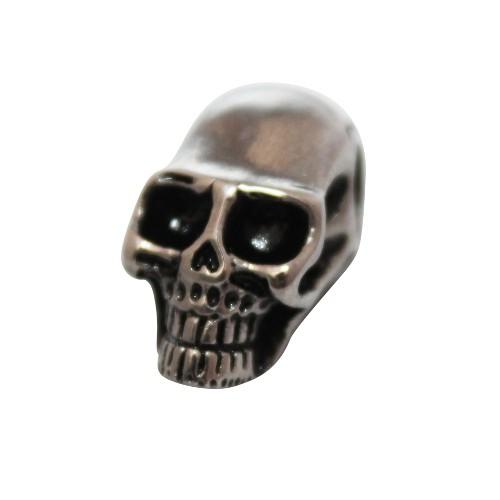 Metallperle Edelstahl Schädel Totenkopf Skull Großloch antiksilber groß 21,5x12mm 1Stk.