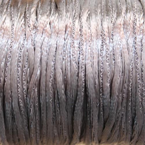 Seidenband Nylonfaden 2mm silbergrau 5 m lang