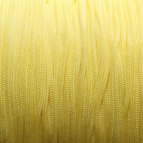 Nylonfaden Makramee geflochten 0,8mm gelb 5m lang