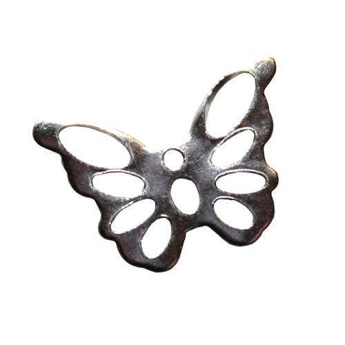 Edelstahl Verbinder Link Schmetterling silber klein 15x10mm 1Stk.