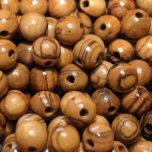 Oliven Holz Perlen Kugel braun 10mm 20Stk.