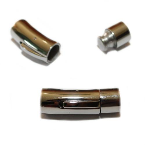 Steck- und Klipp Verschluß Edelstahl rund silber 31x10mm 1Stk.