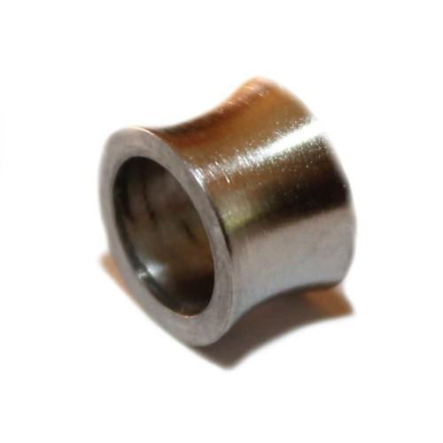 Metallperle Edelstahl Tube silber Großloch 10x12mm 1Stk.