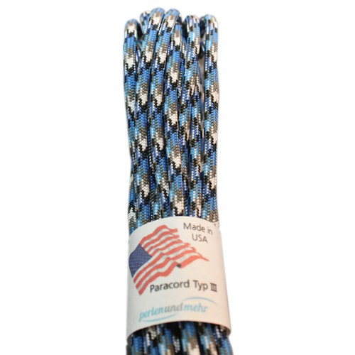 Paracord - perlenundmehr - original amerikanisch TypIII Farbe blue snake