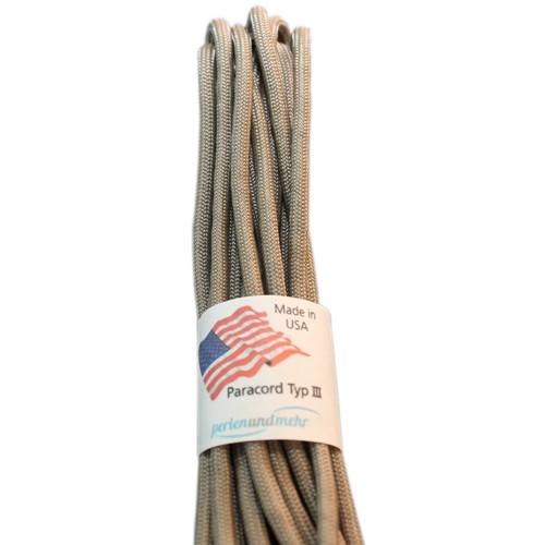 Paracord - perlenundmehr - original amerikanisch TypIII Farbe grau - braun
