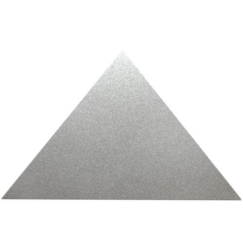 Metallplatte Aluminium Dreieck silber gebürstet 10 x 6 cm 1 Stück