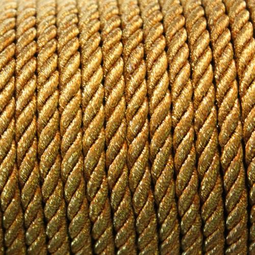Kordel geflochten 5mm gold 200 cm lang