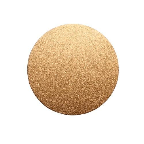 Metallplatte Aluminium Scheibe Kreis rose - gold gebürstet 8cm 1 Stück