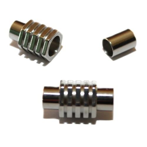 Magnetverschluß Edelstahl Tube Schraube silber 21x10mm 1Stk.