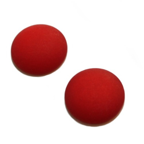 Cabochon Polaris rund flach matt rot 20mm 2 Stück