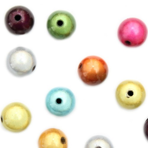 Acrylperle Kugel Miracle Wunder Perle mix glänzend 14mm 10Stk.
