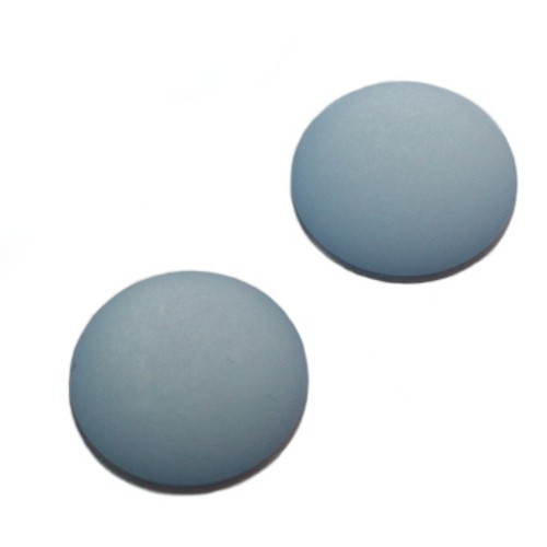 Cabochon Polaris rund flach matt himmel - blau 25mm 2 Stück