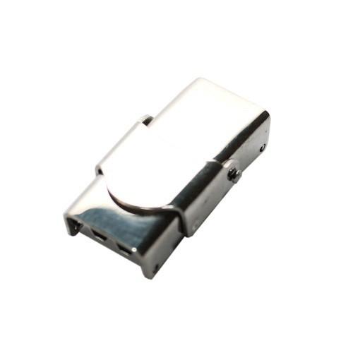 Edelstahl Steckverschluß mit Sicherung verstellbar silber 25x14mm 1Stk.