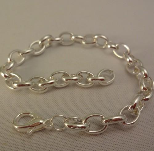 Armband Bettelarmband starke Glieder versilbert 21 cm 1Stk