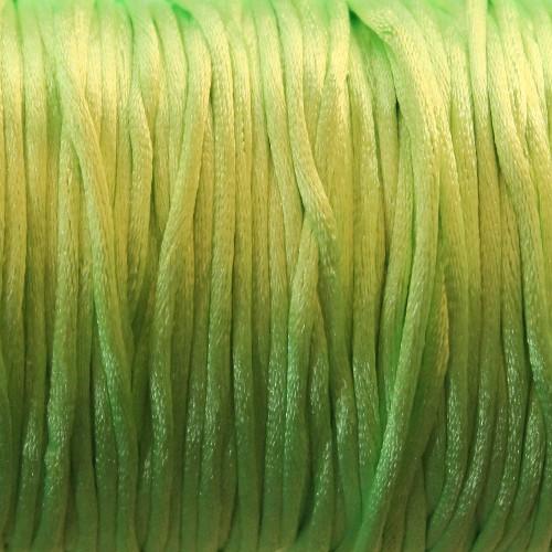 Seidenband Nylonfaden 2mm neon grün 5 m lang