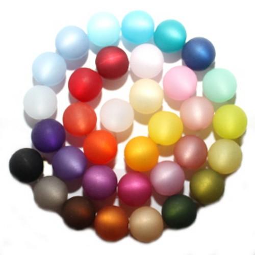 Polaris Perle Kugel matt mix alle 35 Farben je 1 Stück 16 mm
