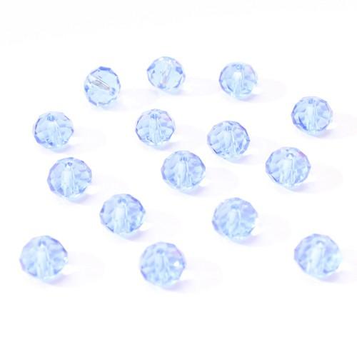 Glasperle Kristallglas Rhombe Bicone facettiert jeans blau glänzend 8x6mm 15Stk.