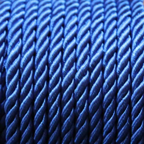 Kordel geflochten 5mm blau 200 cm lang