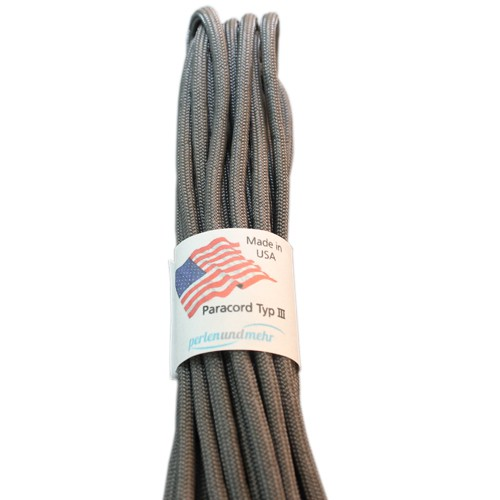 Paracord - perlenundmehr - original amerikanisch TypIII Farbe grau