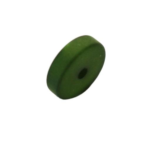Polaris Perle Scheibe matt moos-grün 10x3 mm 1 Stk.