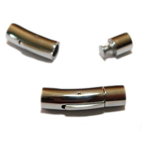 Steck- und Klipp Verschluß Edelstahl rund silber 31x8mm 1Stk.