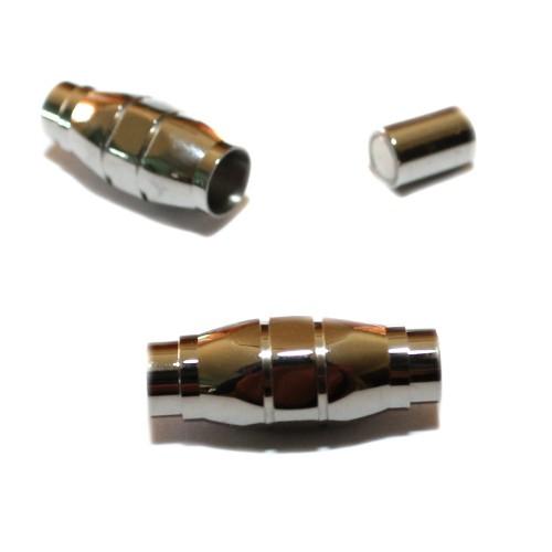 Magnetverschluß Edelstahl oval silber 26x10mm 1Stk.