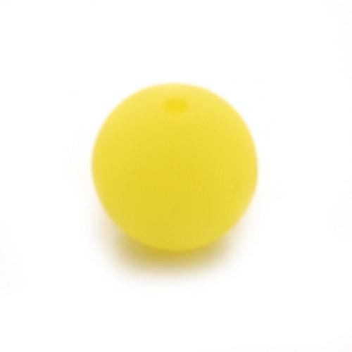 Polaris Perle Kugel matt gelb 14 mm 1 Stk.