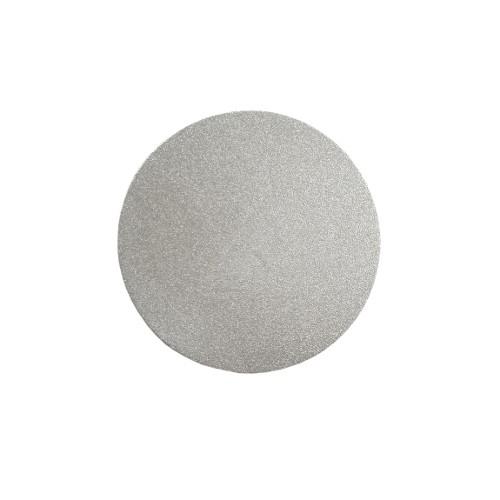 Metallplatte Aluminium Scheibe Kreis silber gebürstet 4cm 1 Stück