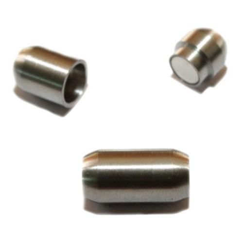Magnetverschluß Edelstahl Tube oval silber 18x9mm 1Stk.