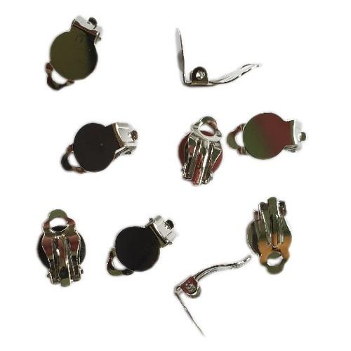 Ohrclips mit Platte silber klein 10mm 10Stk.