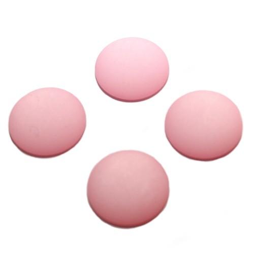 Cabochon Polaris rund flach matt pink 10mm 4 Stück