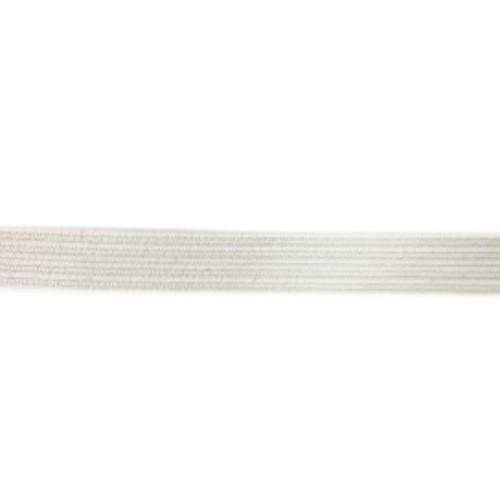Gummi Band flach ca.6mm breit weiß Einzug Gesichtsmaske 5m lang