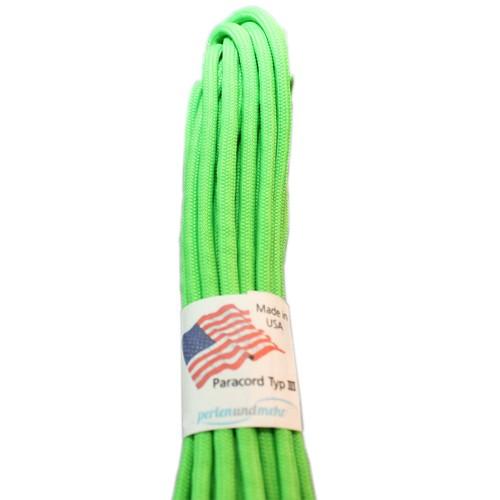 Paracord - perlenundmehr - original amerikanisch TypIII Farbe green neon