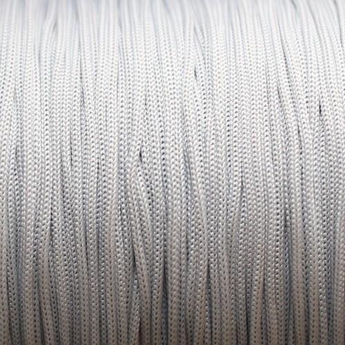 Nylonfaden Makramee geflochten 0,8mm silber hell grau 5m lang