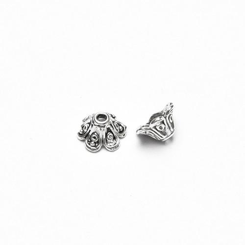 Metallperle Endkappe Perlenkappe Trichter geschnitzt Antiksilber 10x5mm 20Stk.