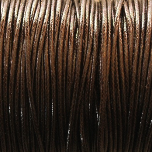Wachsband gewachstes Baumwollband 2mm schwarz braun 5 m lang