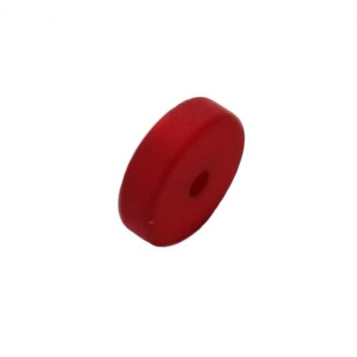 Polaris Perle Scheibe matt rot 10x3 mm 1 Stk.