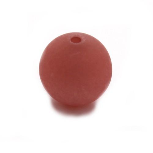 Polaris Perle Kugel matt alt rosa 8 mm 1 Stk.