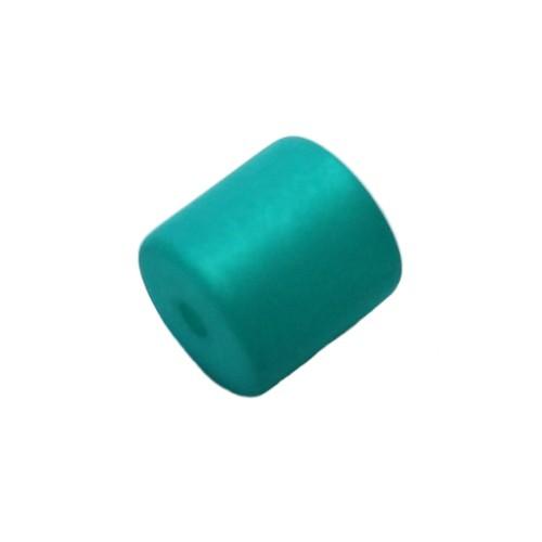Polaris Perle Walze matt smaragd 10 mm 1 Stk.